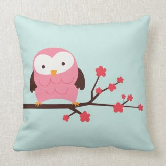 Spring Owl throwpillow