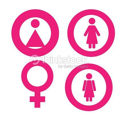 Conjunto De Símbolo Del Género Hombre Mujer Niña Niño Mujer Hombre