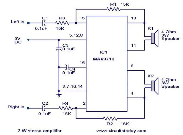 5v Amplifier Circuit Circuit Diagram Images