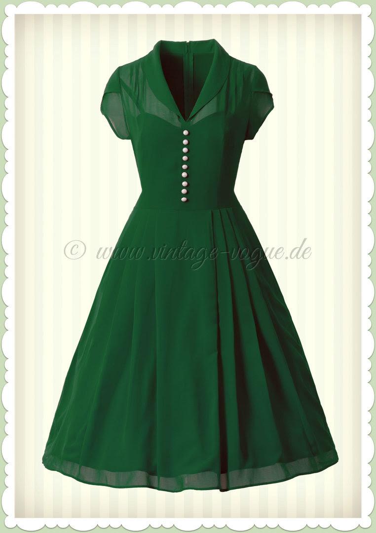 vintage kleid grün a7f804