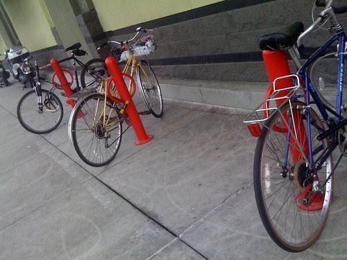 Best buy bike parking lot.