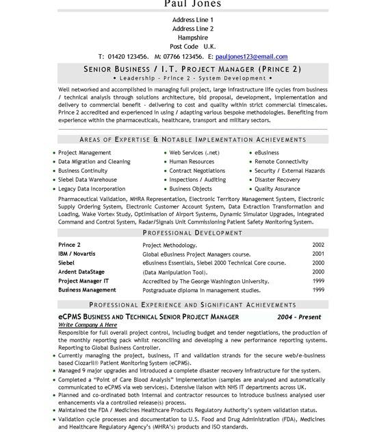 cv templates directgov