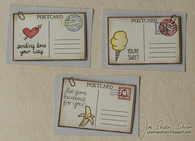 mini postcard cards