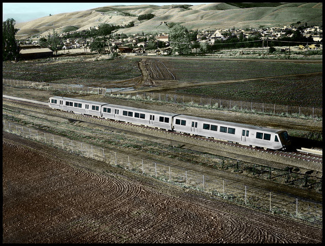 Early BART Train on the MacArthur-Fremont route, the first line which opened