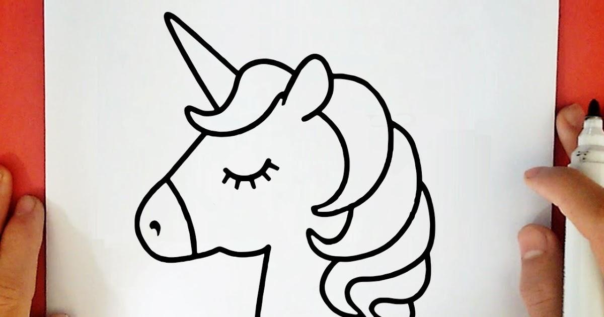 Cómo Dibujar Un Unicornio Fácil Paso A Paso