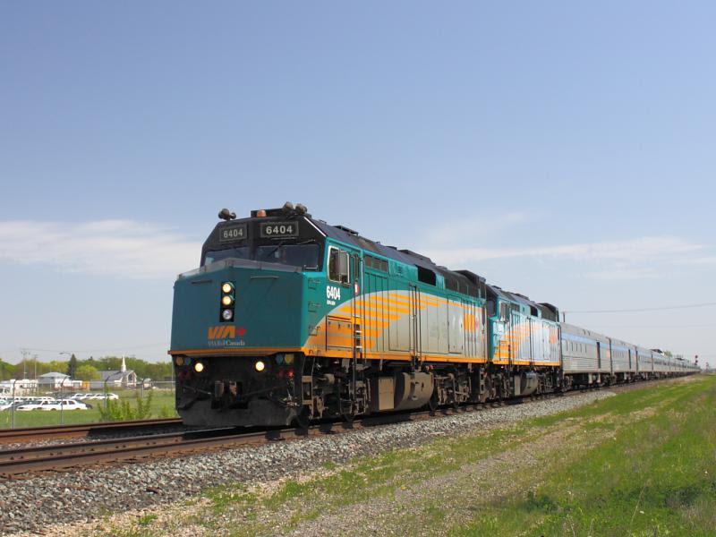 VIA 6404 in Winnipeg