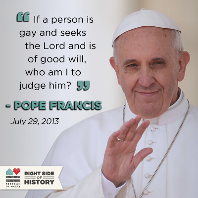 As Catholic Support For Marriage Grows Pope Francis Makes Inclusive