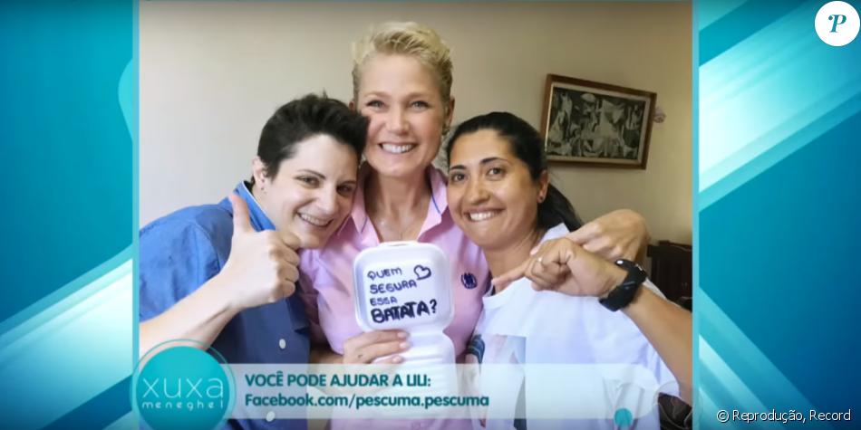 Xuxa visitou a chef Lilian Sanjuan Pescuma, que cozinha em casa, em São Roque, no interior de São Paulo, e criou a campanha 'Quem segura essa batata?', na qual vende batatas recheadas e outros pratos por encomenda  doa injeção para fã em tratamento de câncer raro