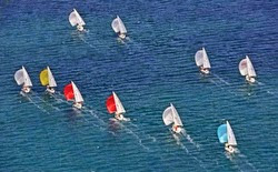 J/24s sailboats- sailing in Italy