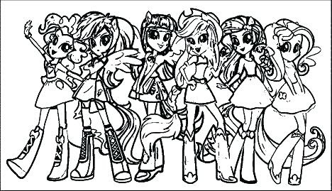 33 My Little Pony Girls Coloring Pages - Free Printable Coloring Pages
