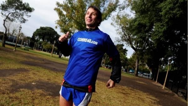 Entrenado. Rodolfo Rossi tiene 40 años y corre desde los 9. RUBEN DIGILIO