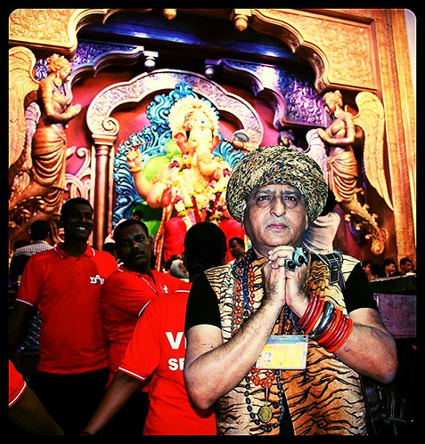 Shooting Lalbagh Chya Raja Visarjan  2013- Beggar Poet by firoze shakir photographerno1