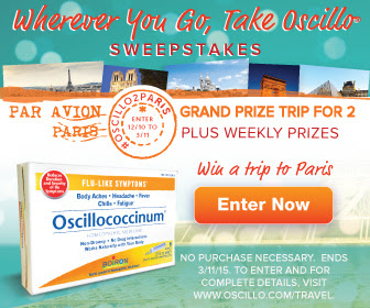 "Enter the ""Wherever You Go, Take Oscillo"" Sweepstakes. Ends 3/11/15."