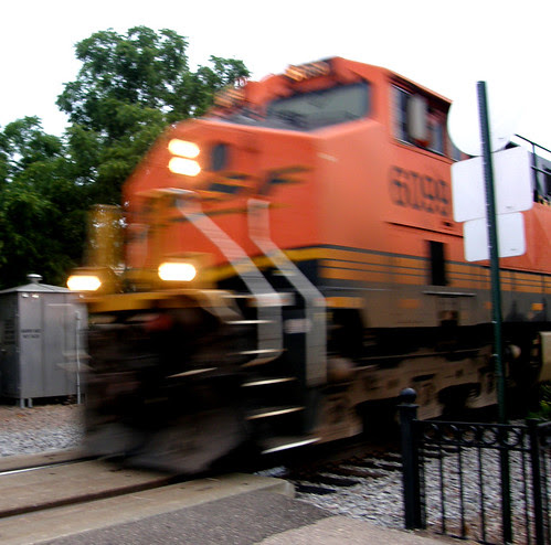 Freight train rolling by