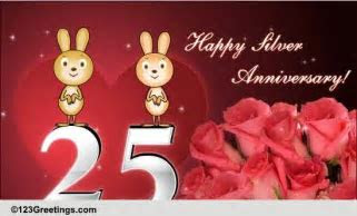 Happy Silver Anniversary! Free Milestones eCards, Greeting