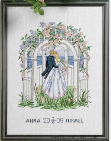 Free Wedding X Stitch Patterns   Wedding Samplers