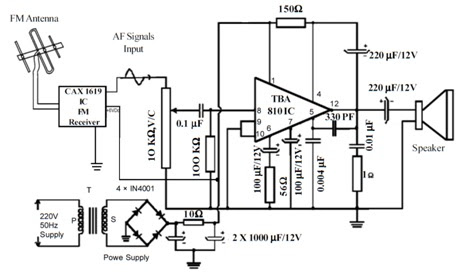 Fm Receiver Circuit Using Ic Cd1619cp - Circuit Diagram Images