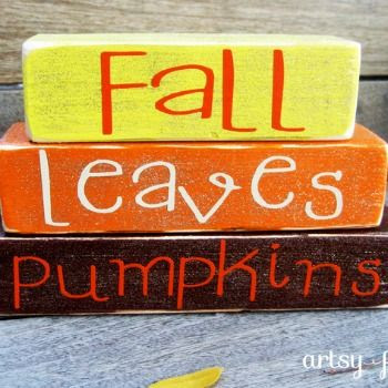 DIY Fall Mini Stacker