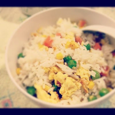 Fried rice for dinner. #sgfood #food #asian #homemade  (Taken with Instagram)
