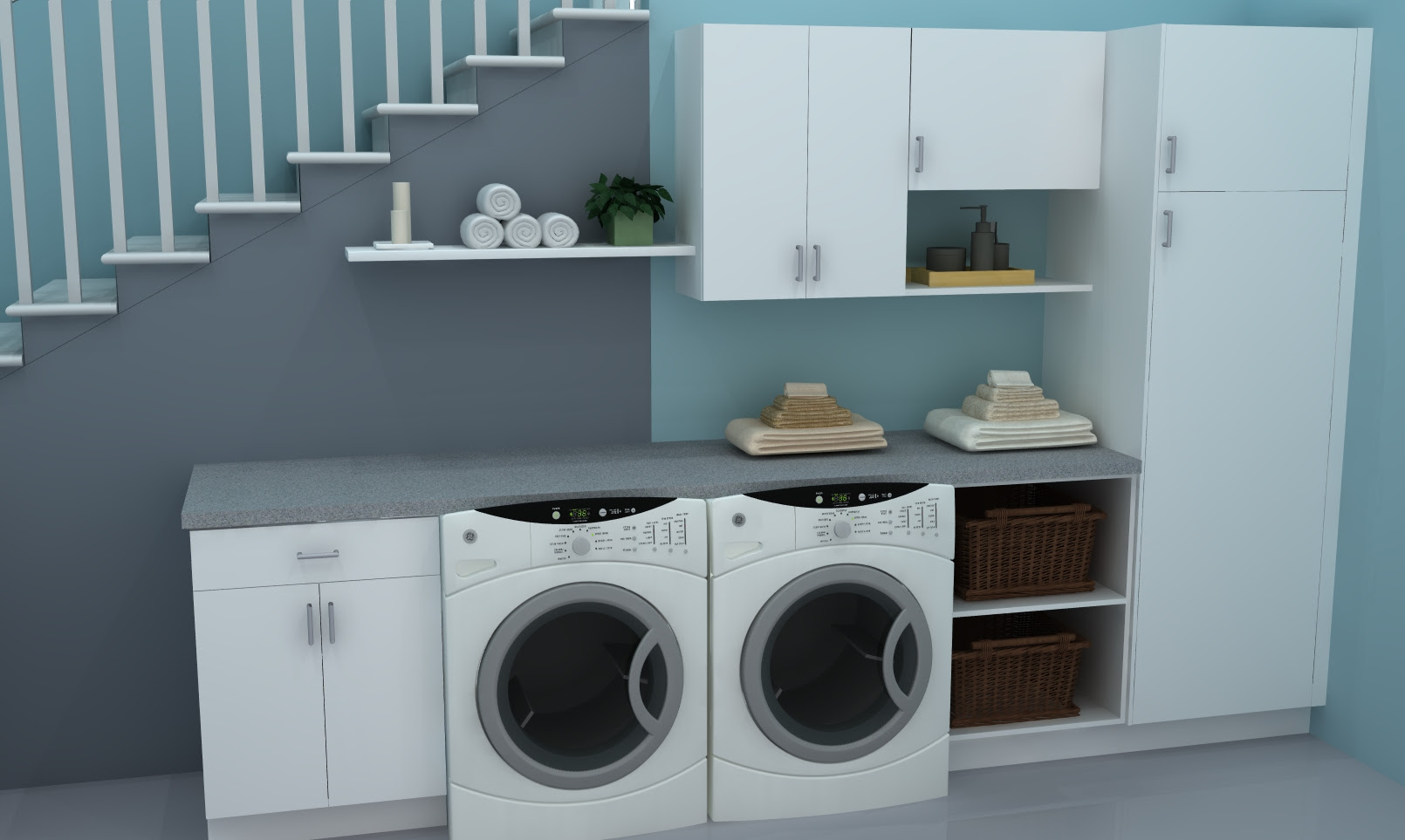 Useful spaces a practical IKEA laundry room