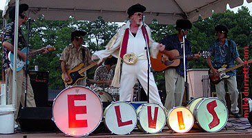 Clambake, the Elvis band, performs at Mondo Movie Night. Photo copyright 2004 Mike Durrett, all rights reserved.