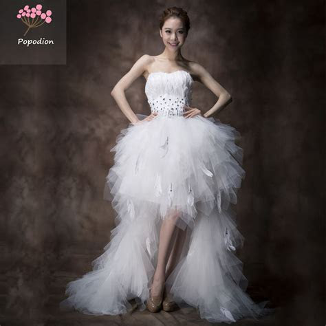 country western wedding dresses white feather wedding