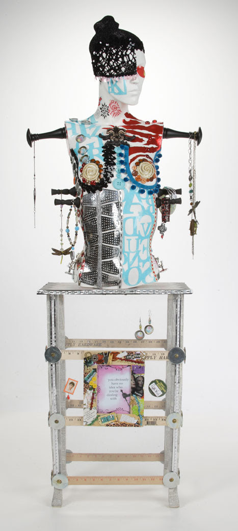 Pattiewack's Mixed Media Jewelry Stand