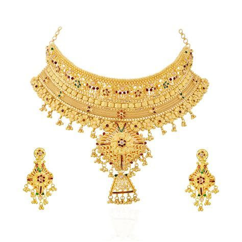 Collections   Latest Style Gold Bridal Necklace   GRT