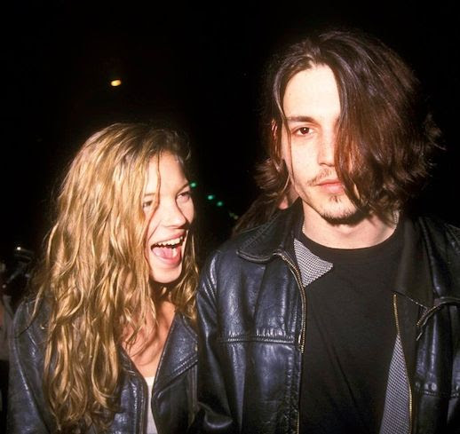 LE FASHION BLOG KATE MOSS JOHNNY DEPP LEATHER JACKETS 90S SMILE LAUGHING CUTE COUPLE 2 photo LEFASHIONBLOGKATEMOSSJOHNNYDEPPLEATHERJACKETS2.jpg