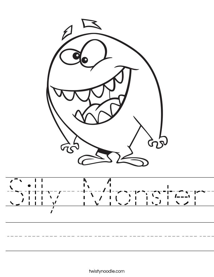 silly monster_worksheet