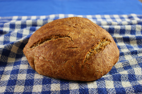 No Knead Whole Wheat Bread - Jenny Can Cook
