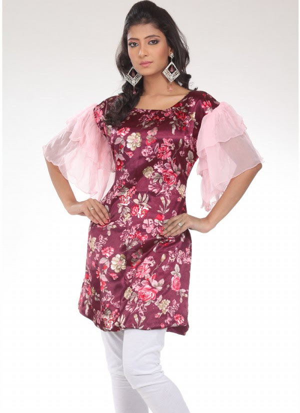 Indian-Trendy-Style-Tunic-Kurti-Designs-2013-Indian-Tunic-Kurti's-Fashionable-Dress-6