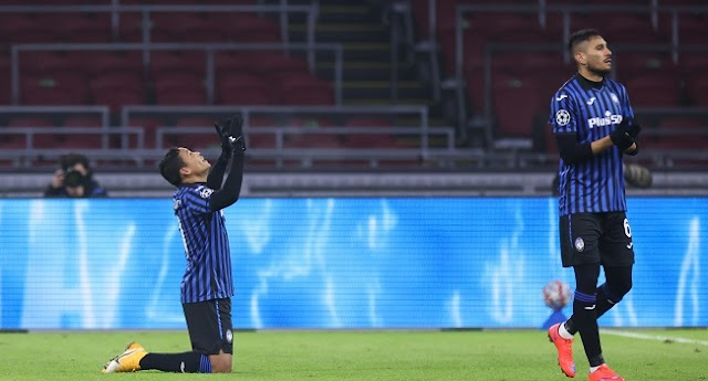 Atalanta defeat Ajax To Reach Champions League Last 16