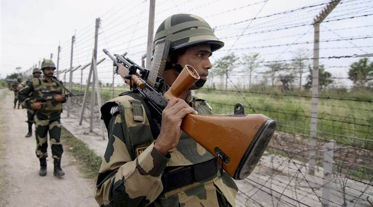 India-Pakistan border, Pak intruders, Pakistani intruders, Indian terrirtory, BSF, India news, Indian express news