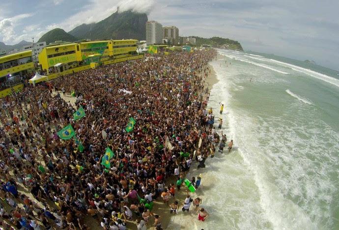 Rio Pro recebeu mais de 100 mil pessoas ao longo dos cinco dias de competição, recorde histórico de público (Foto: Reprodução/Facebook)