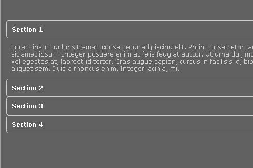 accordion effect using CSS3