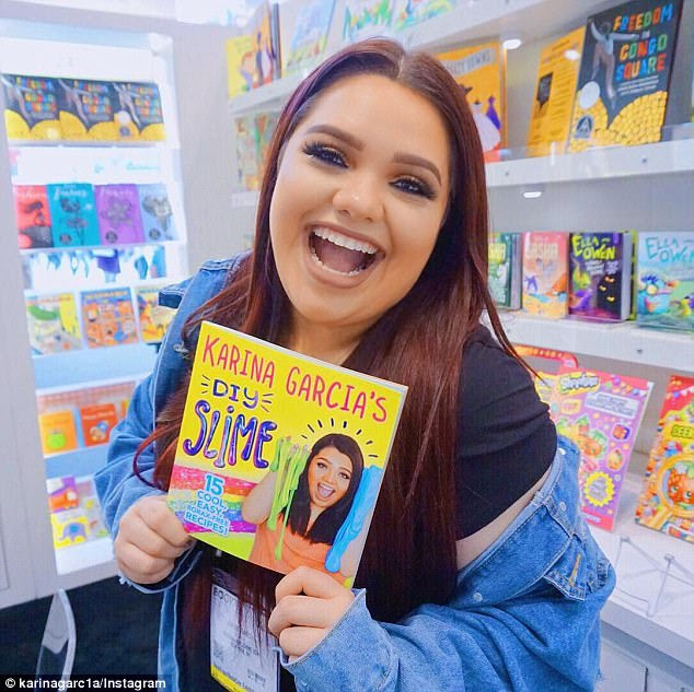 Slimetrepreneur: Karina has also bagged a book deal, releasing a series of her slime recipes