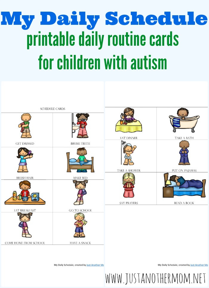 Daily Routine Printable for Kids