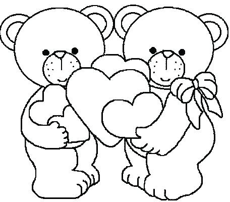 teddy bear with heart coloring pages at getcolorings  free printable colorings pages to