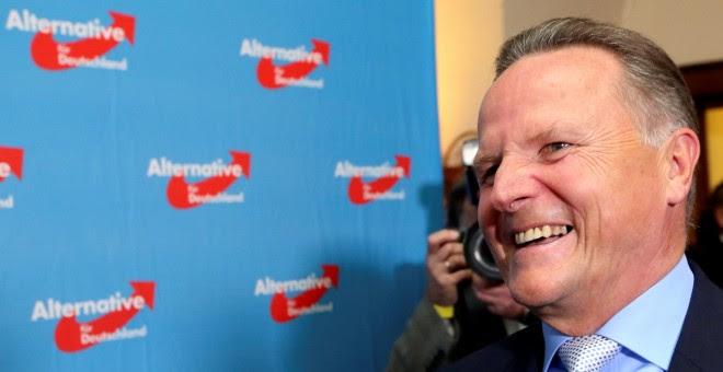 El candidato del partido ultraderechista Alternativa para Alemania, Georg Pazderski, tras conocerse el auge de su formación en las elecciones regionales de Berlín.-REUTERS
