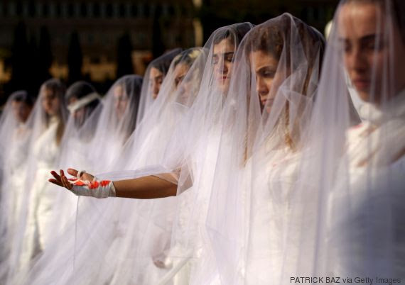 lebanon wedding dresses protest