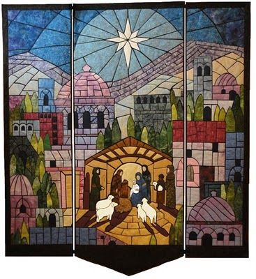 I love this Christmas Nativity Quilt.  I wish my skills were developed enough to tackle this one.  So beautiful!