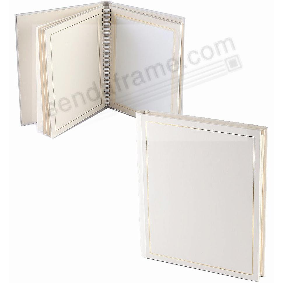 Professional Parade Whitegold Slip In Mat Photo Album For 20 5x7
