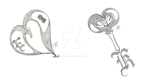 Pictures Of A Drawing Of A Heart And Key Wwwkidskunstinfo