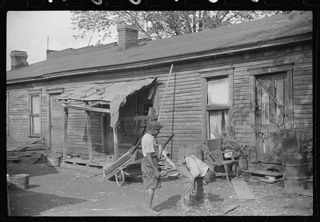 """Homes of Negroes in """"Paradise Alley,"""" Charleston, West Virginia"""
