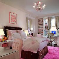Pink Dresser - Contemporary - girl's room - Benjamin Moore Stem Green