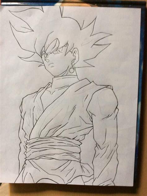 black goku drawing anime amino