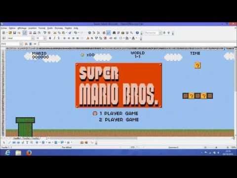 Não é que recriaram o Mario no Excel?
