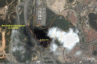 Run Trail marked on Google Earth