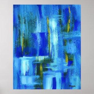 Sky Juice Abstract Art Print Original Painting